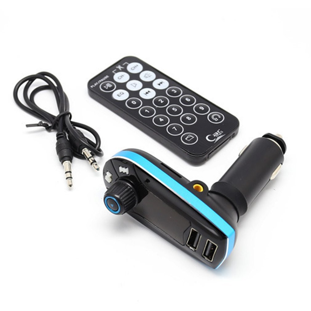 618C Car MP3 Cigarette Lighter Powered Dual USB Charger Music Player FM Transmitter Radio Support TF Card U-disk