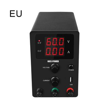 USB DC Laboratory 60V 5A Regulated Lab Power Supply Adjustable Voltage Regulator Stabilizer Switching Bench Source oubel high precision voltage regulated lab power supply 30v 10a 60v 5a power supplies adjustable voltage and current regulator