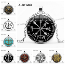 LKLRYWBD /, Vintage Viking Time Gemstone Pendant Necklace Men and Women Jewelry
