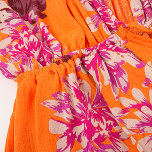 Image 5 - Fargeous Boho Off Shoulder Women Palysuit Floral Beach Summer Short Jumpsuit Romper 2019 Flare Sleeve Sexy Casual Playsuit