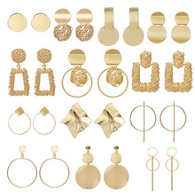 Fashion Statement Earrings 2018 Big Geometric earrings For Women Hanging Dangle Earrings Drop Earing modern Jewelry golden statement earrings 2018 ball geometric earrings for women round dangle earrings drop modern art fashion party jewelry