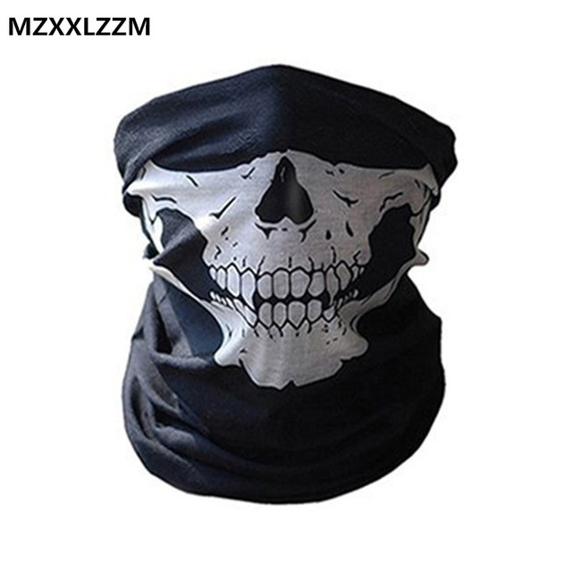 Balaclava Cycling face mask Windproof 3D skeleton mask for sports Riding hunting game magic scarf motorcycle Bicycle Thermal