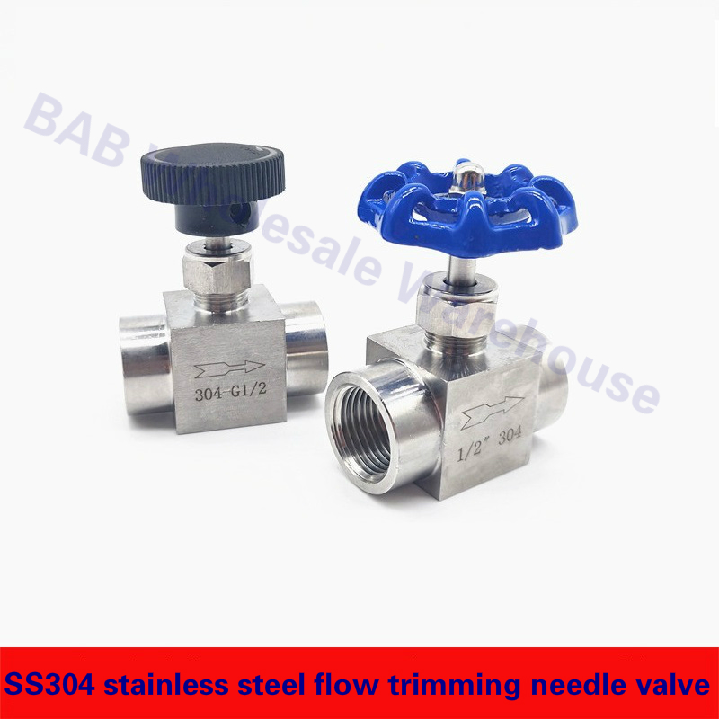 SS304 Stainless Steel Flow Trimming Needle Valve 1/8