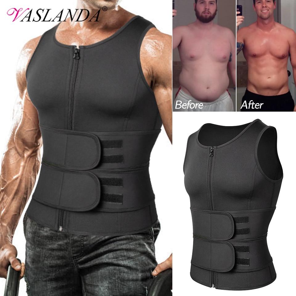 Men Body Shaper Waist Trainer Sauna Suit Sweat Vest Slimming Underwear Weight Loss Shirt Fat Burner Workout Tank Tops Shapewear 1
