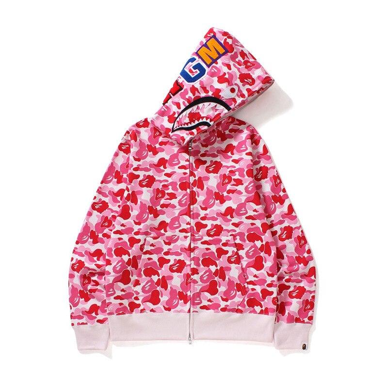 NEW Designer Hoodies 20ss Men Women Designer BAPE pink Camouflage Jacket Bape Mens High Quality Casual Sweatshirts Size M-3XL