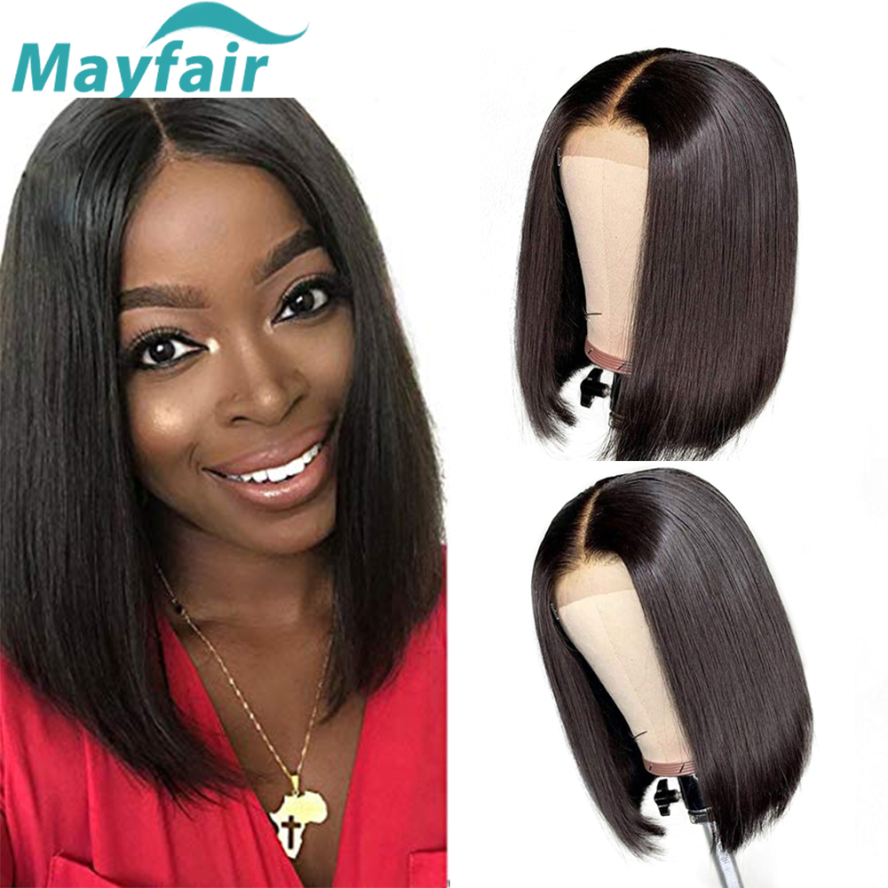 Bob Lace Front Wigs Pre Plucked With Baby Hair Short Human Hair Wigs Lace Front Human Hair Wigs Peruvian Straight Bob Wigs
