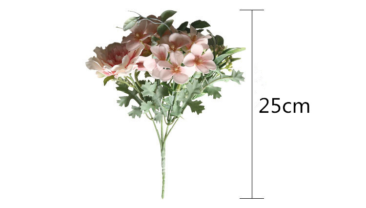 1 Bouquet Camellia Peony Silk Fake Rose Artificial Flowers For Party Decoration 6
