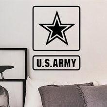 Новые армейские Мультяшные настенные наклейки star us Из ПВХ