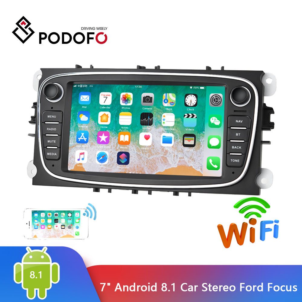 Podofo 2 Din Car Radio 7 Android 8 1 Autoradio Multimedia Player GPS WIFI MP5 FM