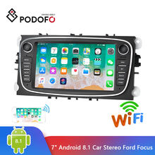 "Podofo 2 Din автомагнитола 7 ""Android 8,1 Авторадио мультимедийный плеер gps wifi MP5 FM для Ford Focus Mondeo C-MAX S-MAX Galaxy II(Hong Kong,China)"