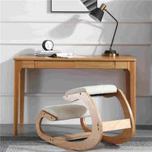 Оригинальное эргономичное кресло на коленях, стул, мебель для дома и офиса, эргономичное кресло-качалка на коленях из дерева, компьютерное кресло-качалка