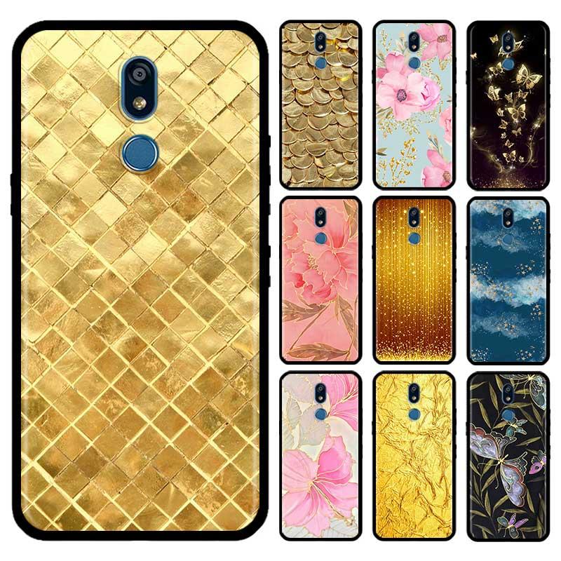 Gold Foil Glitter Quicksand Case For LG G6 G7 G8 Thinq K40 K40s Q51 Q60 Q61 Q70 K41s K50s K51s K61 Tpu Phone Carcasa Capas