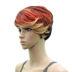 HAIRJOY Synthetic Hair  Women Short Straight Heat Resistant  Wig 3 Colors Availabe