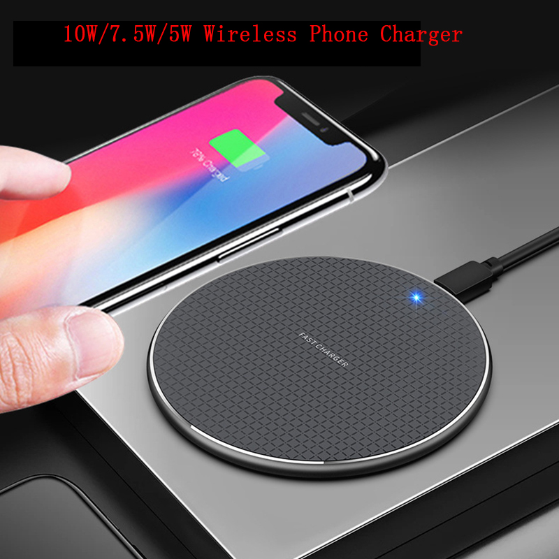 Universal Qi 10W Wireless Charger For IPhone 11 Pro XS XR X8 Plus Quick Charge 3.0 Fast Wireless Charging Pad For Huawei P30 Pro