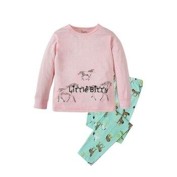 100 Cotton Boys and Girls Long Sleeve Pajamas Sets Children's Sleepwear Kids Christmas Pijamas Infantil Homewear Nightwear - PW023, 2T