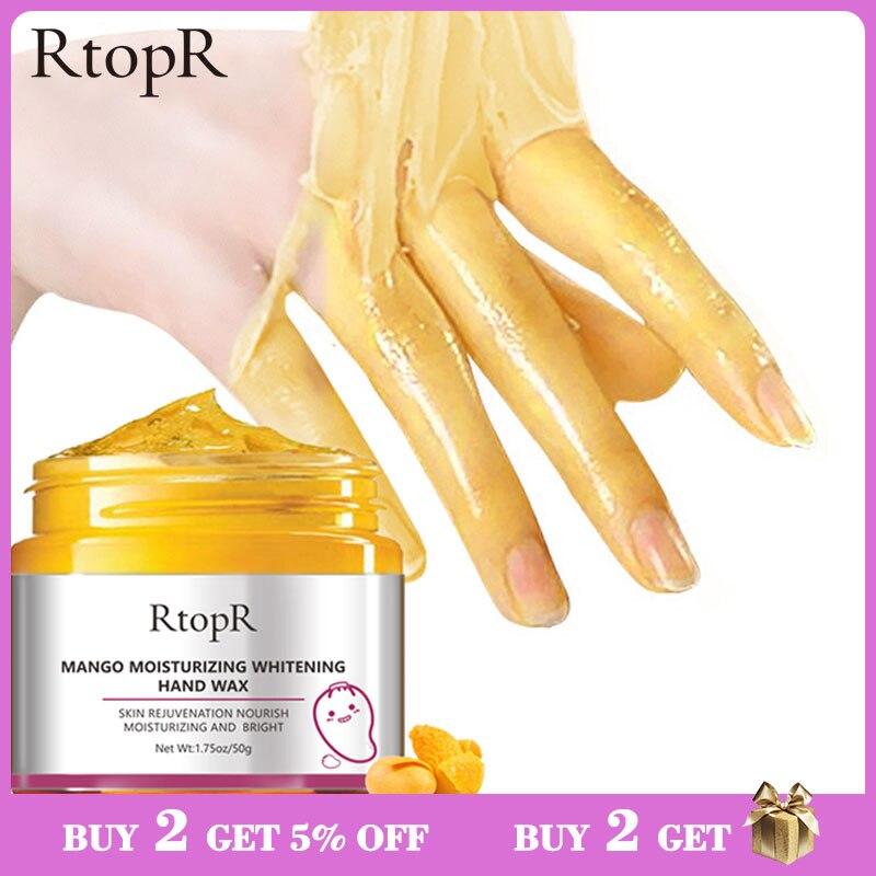 Увлажняющая маска для рук с отбеливающим воском манго, отшелушивающая маска для рук, отшелушивающие мозоли, кислотный антивозрастной скраб для лечения кожи рук, 50 г