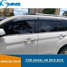 Car door visor For Haval H9 2015-2018  window rain protector HAVAL 2015 2016 2017 2018 car accessories SUNZ