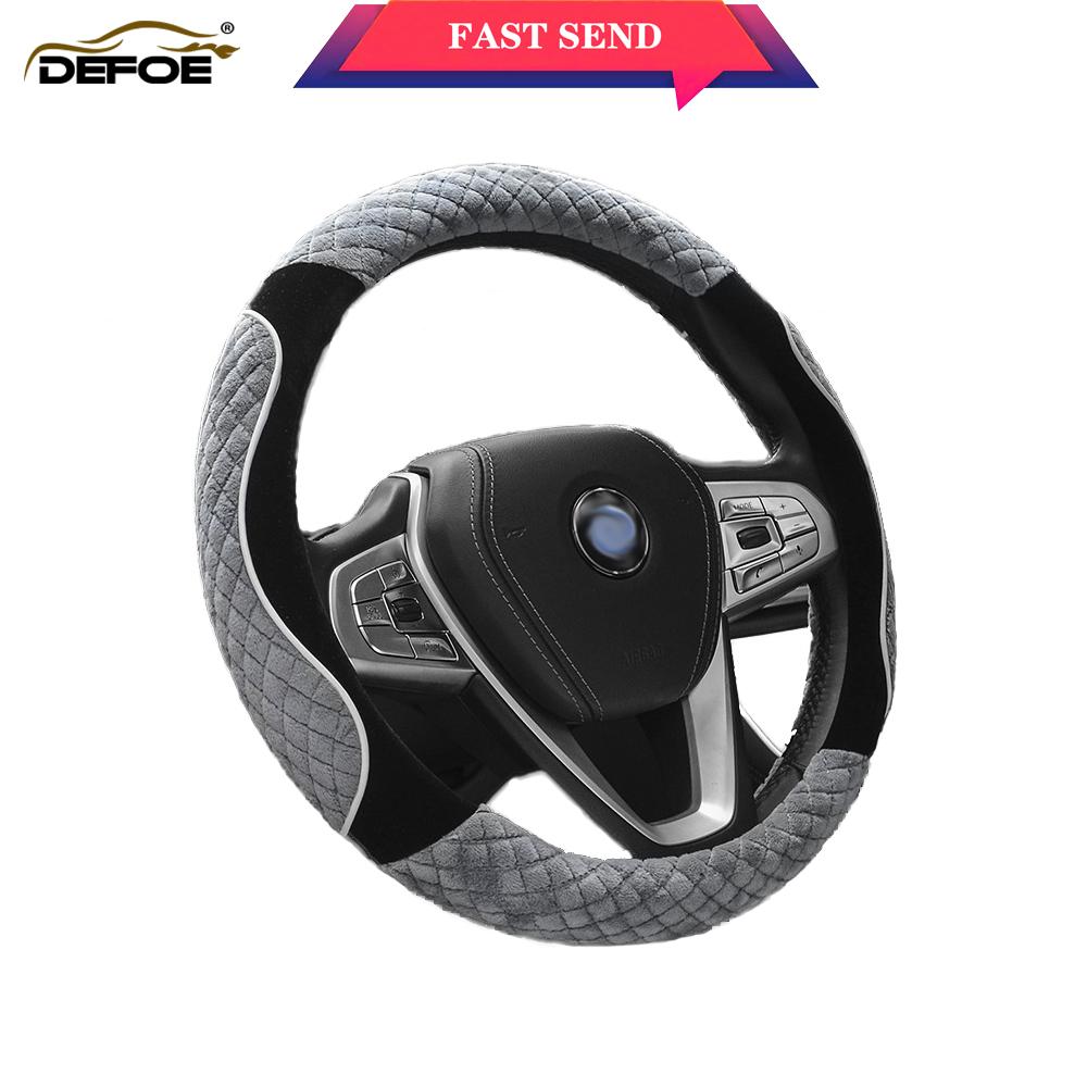 Fashion Winter non slip car steering wheel cover Short plush Keep warm Comfortable driving 5 color Diameter38 cm freeshipping