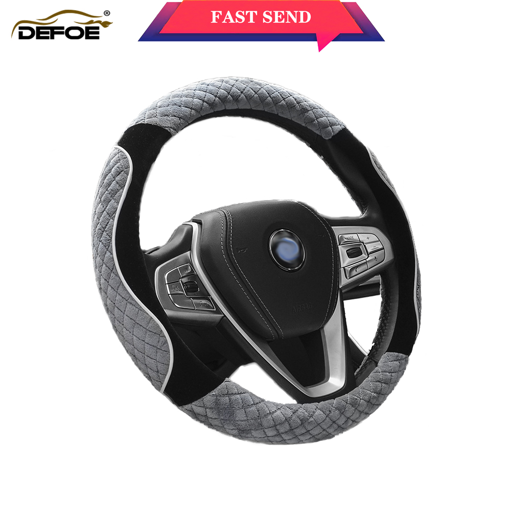 Fashion Winter non slip car steering wheel cover Short plush Keep warm Comfortable driving 5 color Diameter38 cm freeshipping