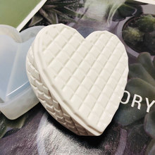 2pcs/Set Silicone mold for Gypsum Creative Concrete Diamond Heart Designer Jewelry Storage Box Candlestick Plaster Clay mold diy