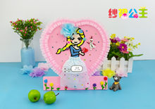 Mesh Dress Princess Snowflake ni hua Children'S Educational Handmade DIY Mud Pearl Sketchpad Clay Fill with Stand(China)
