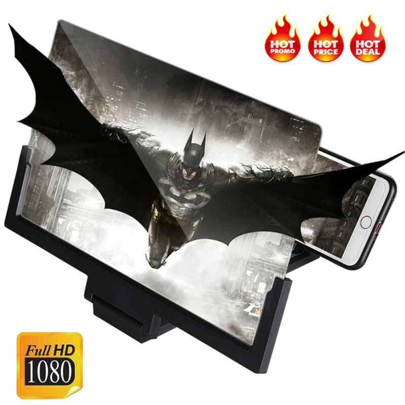 14 Inch 3D Screen Video Magnifier Enlarger Portable Smartphone Foldable Amplifier HD Mobile Phone Screen Amplifier Stand