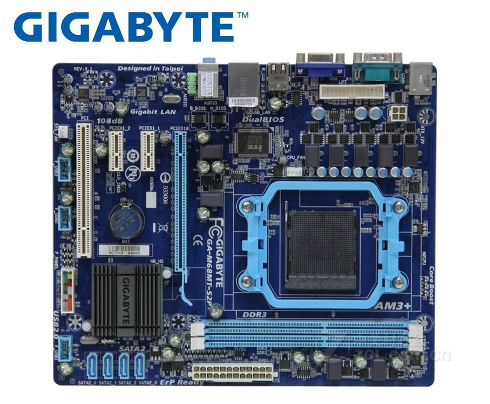 Gigabyte GA-M68MT-S2P GA-M68MT-S2  Motherboard DDR3 Socket AM3 8G M68MT-S2P M68MT-S2 Used Desktop Motherboard Solid State