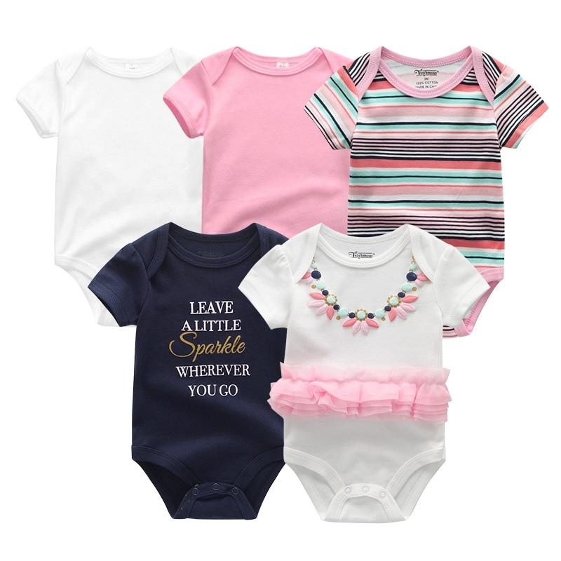 H2625f360e24b49598fda8389d4ae2f985 2019 5PCS/Lot Baby Boys Clothes Unicorn Girls Clothing Bodysuits Baby Girls Clothes 0-12M Newborn 100%Cotton Roupas de bebe