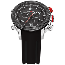WEIDE Man Sport Watch Men Orange Dial Digital Quartz Watch LED Alarm Waterproof Army Wristwatch
