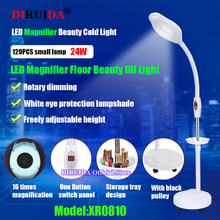 16x Magnifying LED Lamp Eyebrow Tattoo Nail Art Beauty Makeup Cold Light Lamp For Photography Selfie Video Live fill Beauty Ligh
