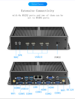Partaker Fanless all aluminum alloy MINI PC Intel Core I7 4500U with Intel HD gracphics Mini HTPC Industrial PC