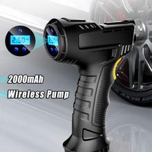 120W akumulatorowa sprężarka powietrza bezprzewodowa pompa nadmuchiwana przenośna pompa powietrza opona samochodowa Inflator cyfrowy do piłek rowerowych