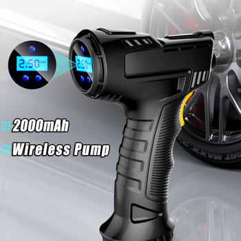 120W Rechargeable Air Compressor Wireless Inflatable Pump Portable Air Pump Car Tire Inflator Digital for Car Bicycle Balls