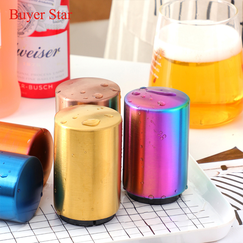 Automatic Stainless Steel Beer Wine Soda Cap Can Bottle Easy Opener Kitchen Tool