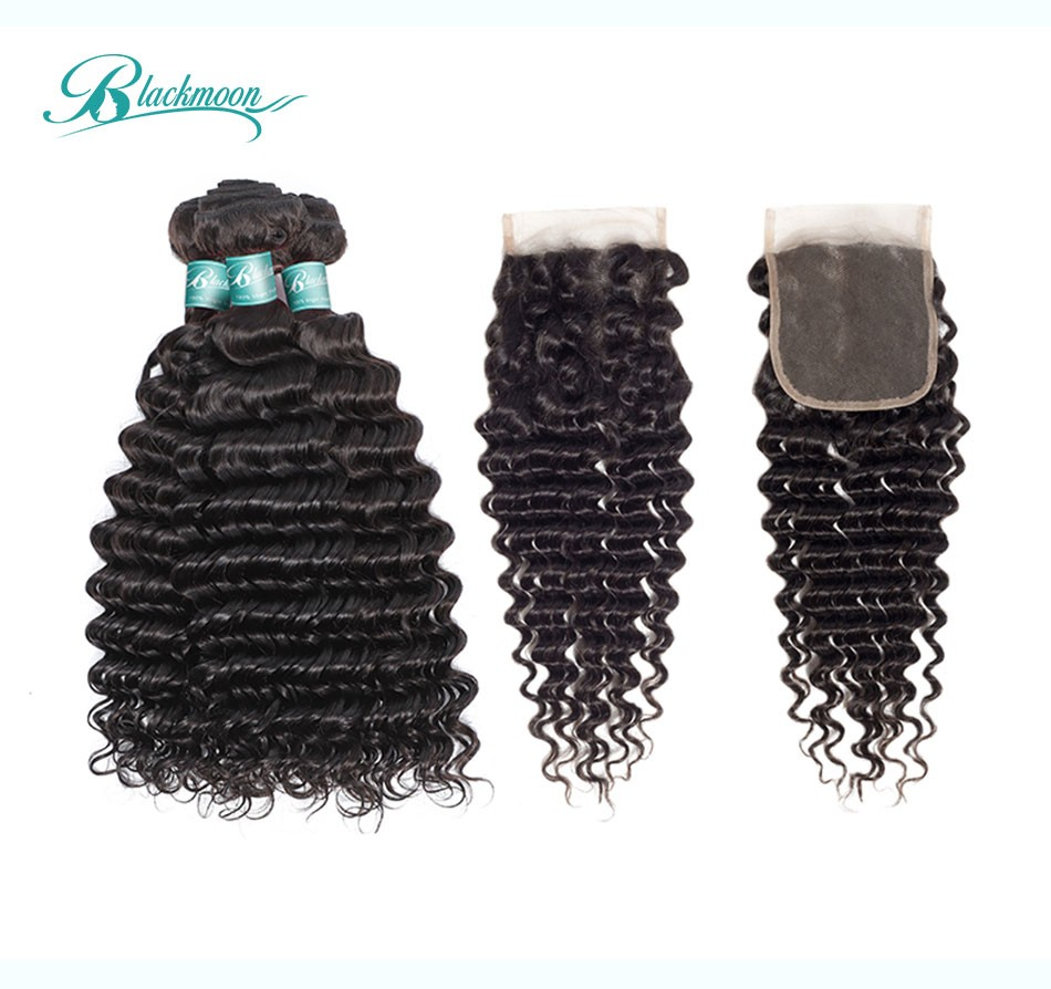 deep wave hair weave bundles with closure--3+4_02