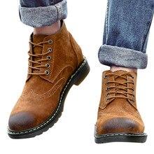 Eillysevens/Новинка; мужские повседневные ботинки больших размеров; кожаные мужские ботинки; зимние ботинки; Прочная водонепроницаемая обувь;# q45