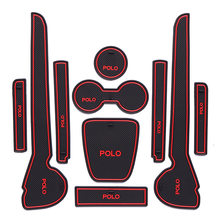 Volkswagen Polo Poort Slot Pad Auto Interieur Refit Armsteun Pad Polo Water Coaster Alleen Slip Mat Stof Mat(China)