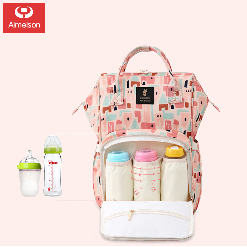 Mummy Bag 2019 New Fashion Female Maternal And Child Package Shoulder Portable Multi-function Large Capacity Mother Bag Out
