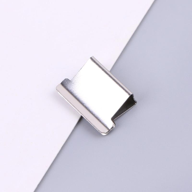 50pcs Metal Paper Clipper Refill Document Clip Photo Tickets Notes Letter Folder DXAC