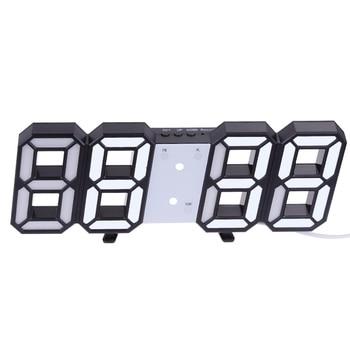 3D Large LED Digital Wall Clock Date Time Celsius Nightlight Display Table Desktop Clocks Alarm Clock From Living Room 14