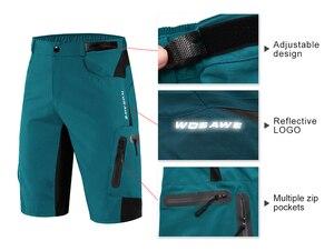 WOSAWE Cycling Shorts Summer Breathable Loose Short MTB Shorts Bike Shorts Men Running Bicycle Pants Riding Shorts Pants