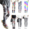 Fashion Leggings Sexy Casual Highly Elastic and Colorful Leg Warmer Fit Most Sizes Leggins Pants Trousers Woman's Leggings 1