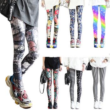 Modne legginsy Sexy Casual wysoce elastyczny i kolorowy ocieplacz na nogi pasuje do większości rozmiarów legginsy spodnie spodnie damskie legginsy tanie i dobre opinie MAXAKG Kostek CN (pochodzenie) REGULAR HIGH SEAM Spandex(10 -20 ) STANDARD Sukno WOMEN Na co dzień POLIESTER Drukuj Dla osób w wieku 18-35 lat