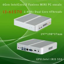 Intel core i3 6157Umini pc  onsale intel Iris 550 win10 4K VGA HDMI Mini Nettop Htpc nas Home / office Network storage