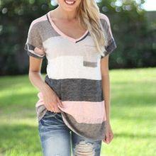 Fashion Women Tshirt Striped Casual Basic Linen Elastic Streetwear Loose Waist Slim Shirt Minimalist Cotton Summer Camisa Tops