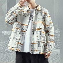 Camisas Vintage para hombre, novedad, camisa de trabajo de manga larga, novedad de 2020, camisas informales de retales de estilo Safari, cuello vuelto, REGULAR completo