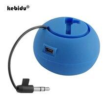 Kebidu haut parleur lecteur de musique stéréo 3.5mm Jack hambourg Type télescopique enfichable Audio Mini haut parleurs portables pour téléphones intelligents PC