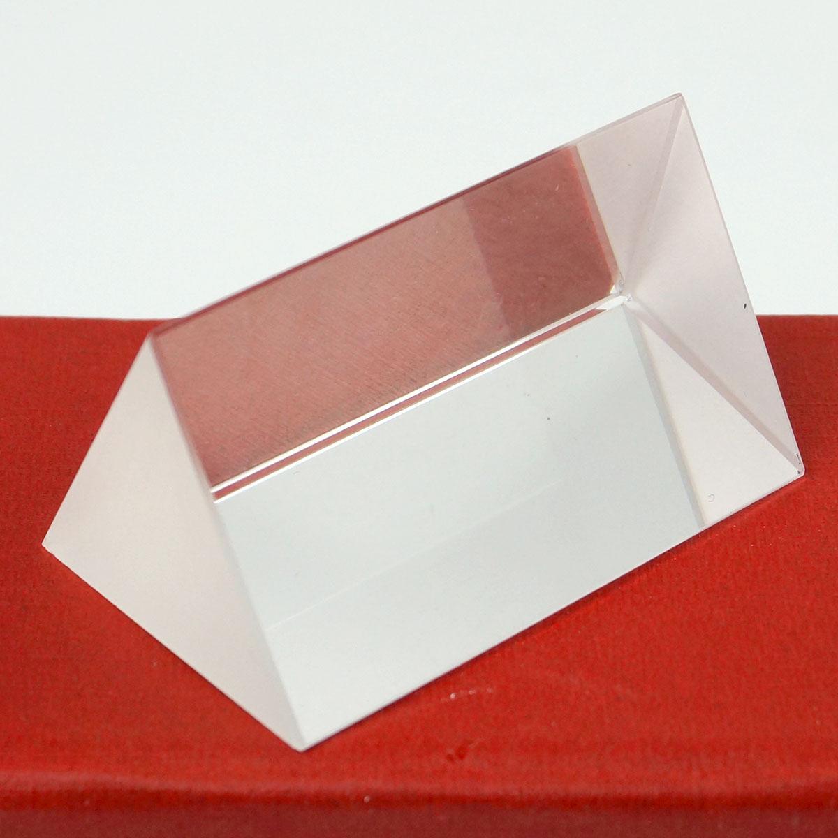 30x30x50mm K9 Crystal Triangular Prism for Teaching Light Spectrum Physics Photo Optical Instruments Rainbow Experiment