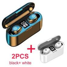 F9 TWS Drahtlose Kopfhörer Touch Control Bluetooth 5,0 Kopfhörer 2000mAh Power Bank 9D Stereo Sport Wasserdichte Ohrhörer Headset