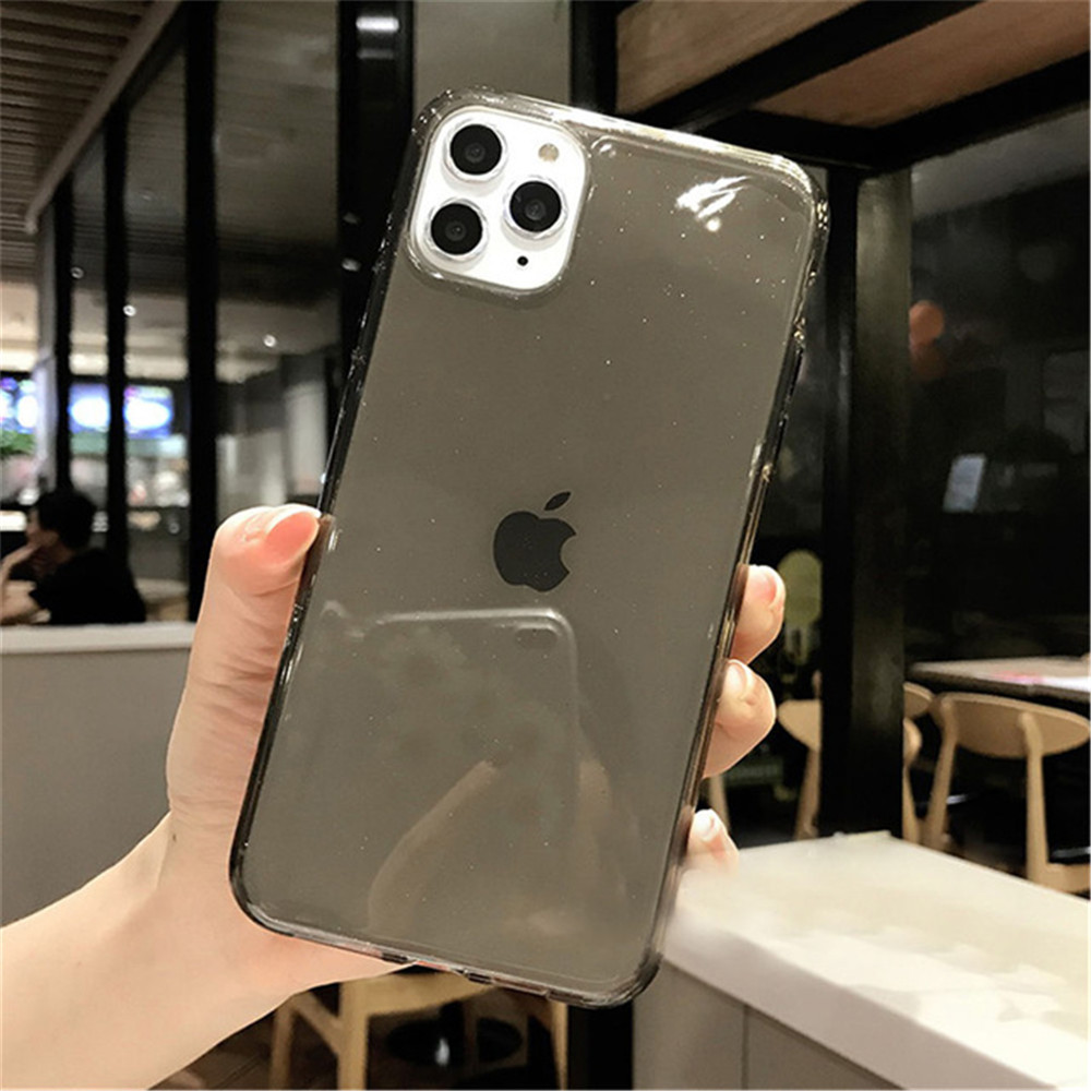 H2627883a931249688de2b45ddb4e2dd71 - Moskado Bling Glitter Transparent Phone Cases For iPhone 11 11Pro Max X XR XS Max 7 8 6 6s Plus Clear Solid Soft TPU Back Cover